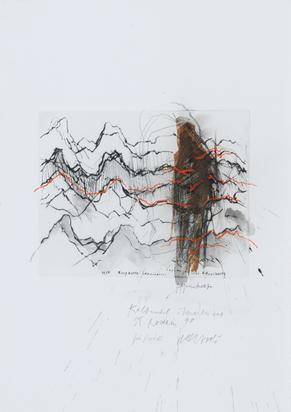 Bergkette Saanenmöser - seismografische Aufzeichnung