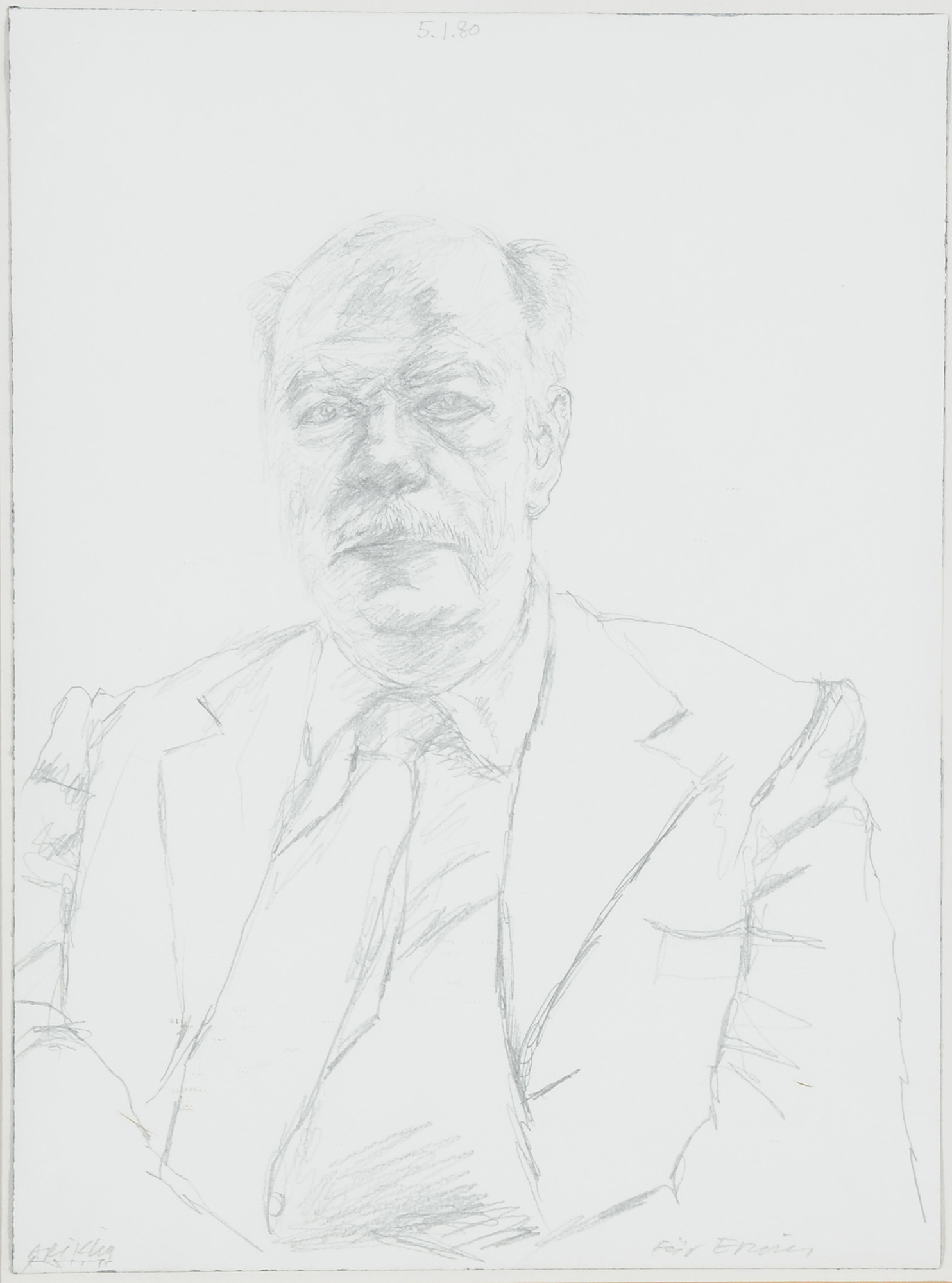 Arikha Avigdor, Bildnis Erwin Leiser (Portrait Erwin Leiser)