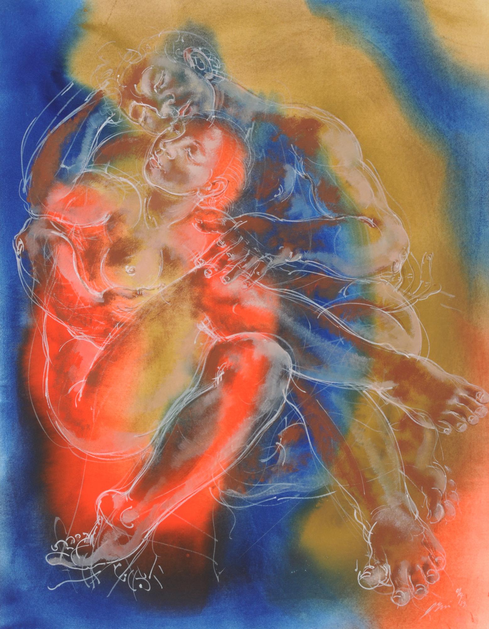 Erni Hans, Sich umarmendes Paar (Embracing Couple)
