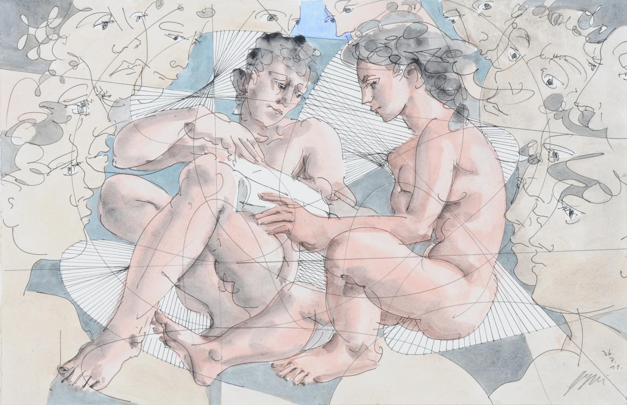 Erni Hans, Lesendes Paar (Reading Couple)