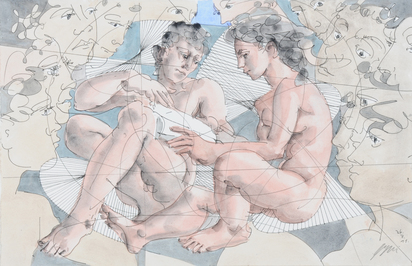 Lesendes Paar (Reading Couple)