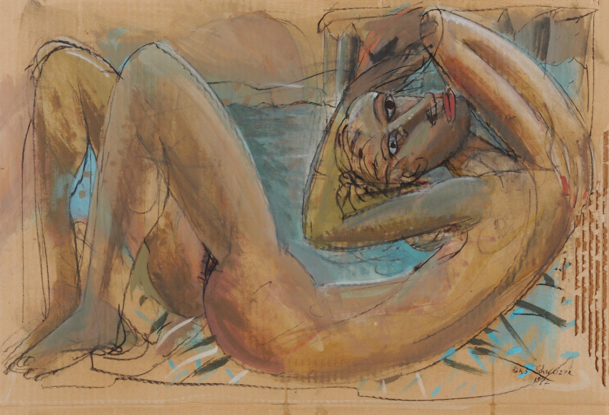 Schweizer Hans, Liegender weiblicher Akt (Reclining Female Nude)