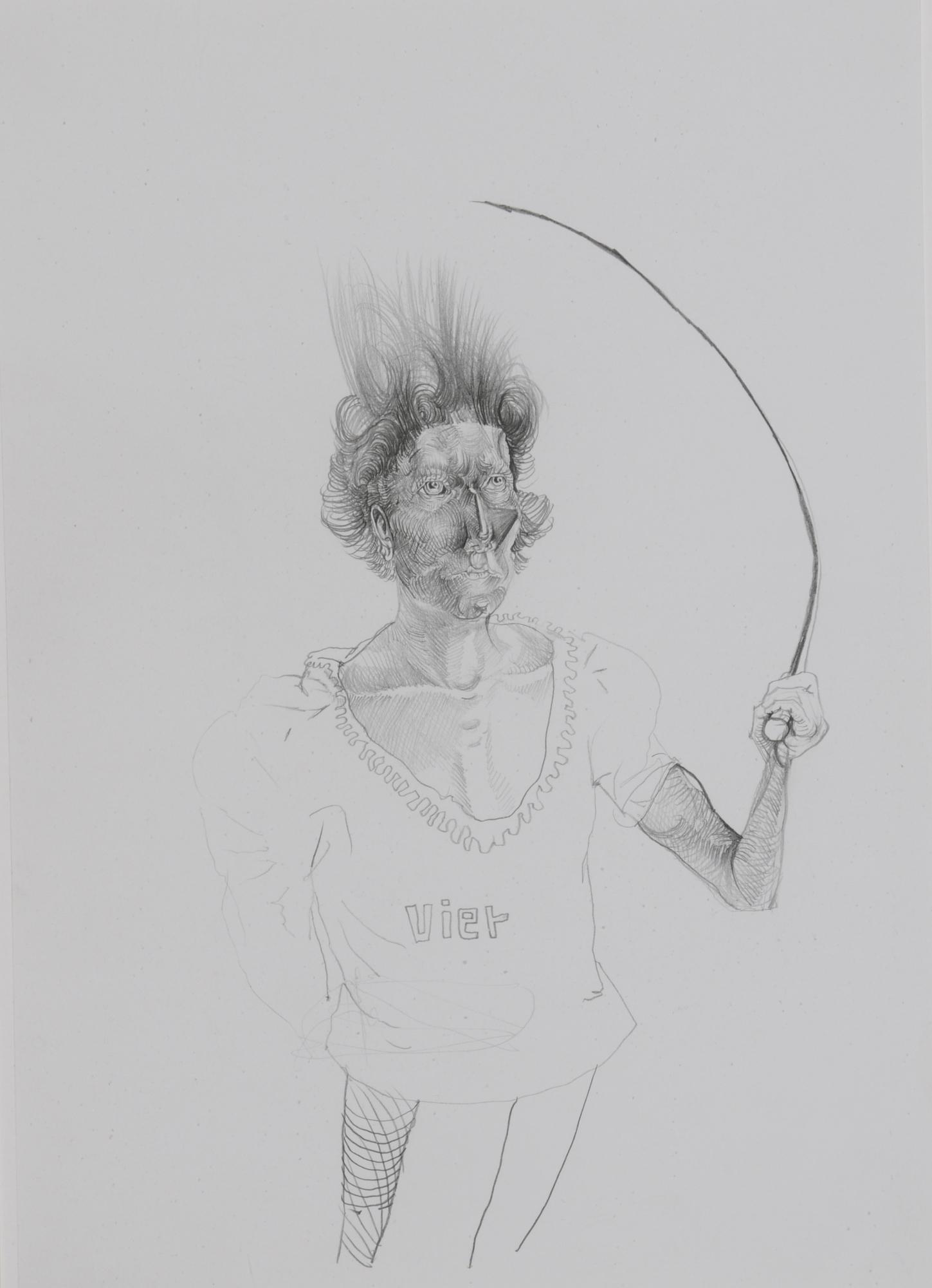 Feiler Peter, 2 drawings: Domina, 2004; Untitled, 2004.