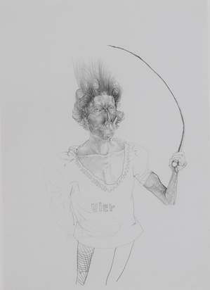 2 drawings: Domina, 2004; Untitled, 2004.