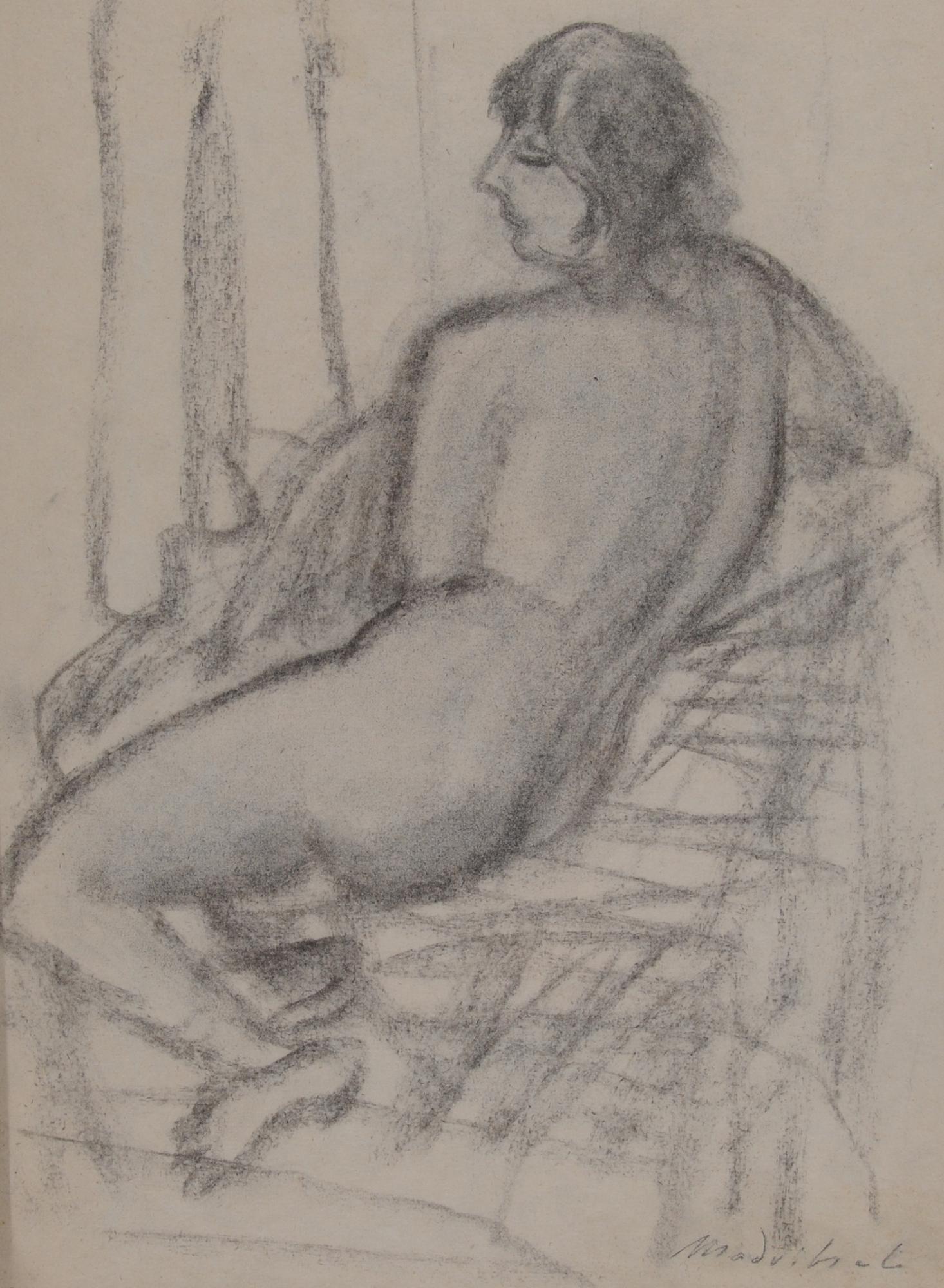 Madritsch Karl, Recto/verso: Frauenakt im Profil (Female Nude in Profile)