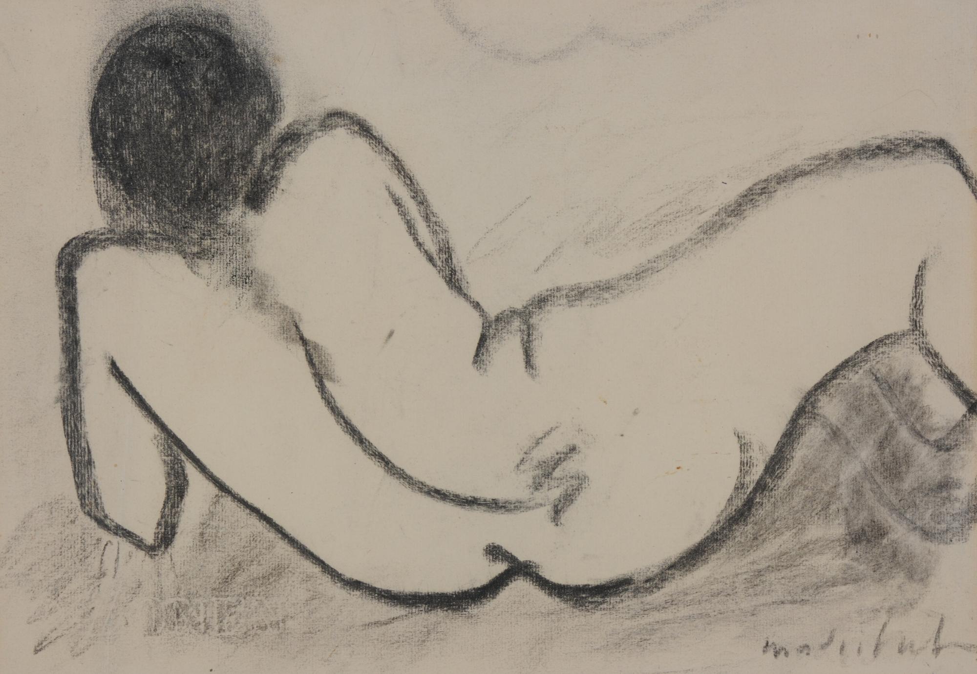 Madritsch Karl, Reclining Female Nude