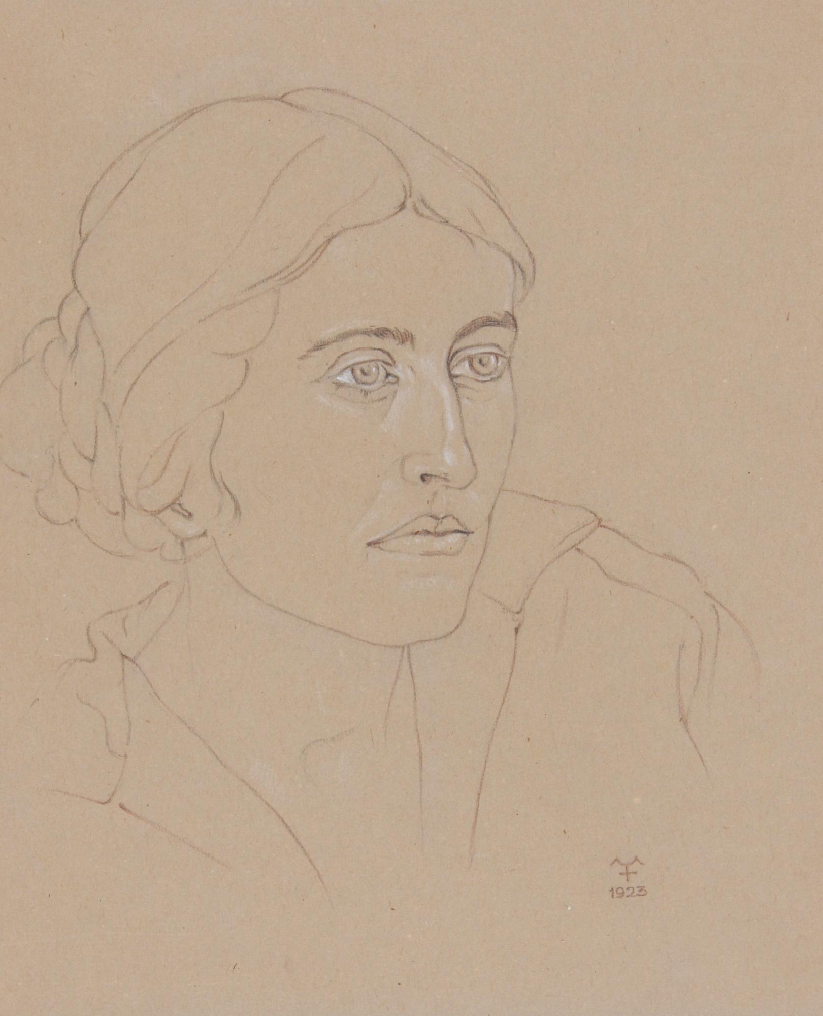 Forbat Alfred, 2 drawings: Porträt mit Mütze (Portrait with Cap), 1922; Frauenporträt (Portrait of a Women)