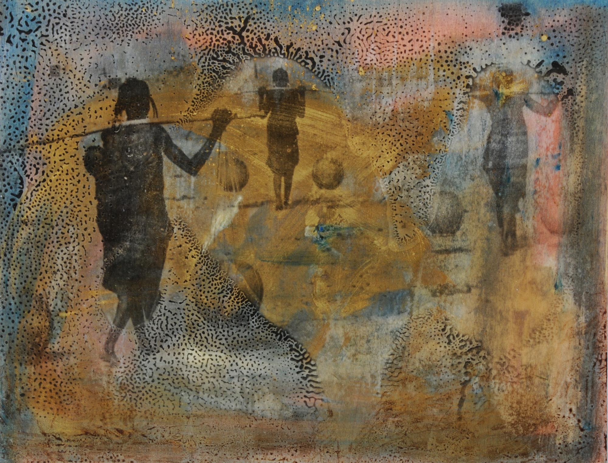 Züst Andreas, Wasserträgerinnen, West-Afrika, approx. 1960