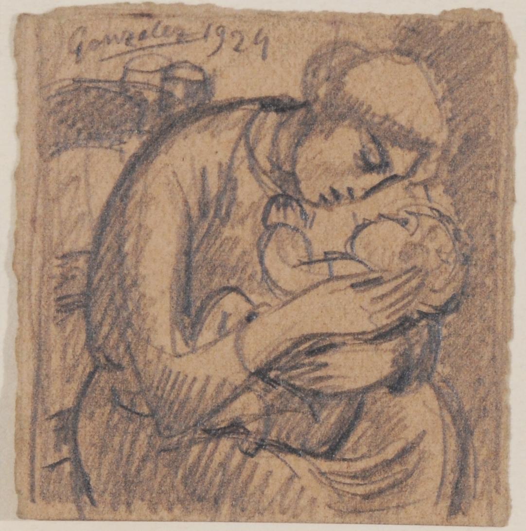 González Julio, Femme assise avec son enfant