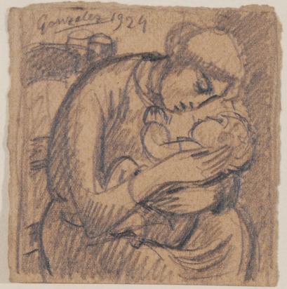 Femme assise avec son enfant