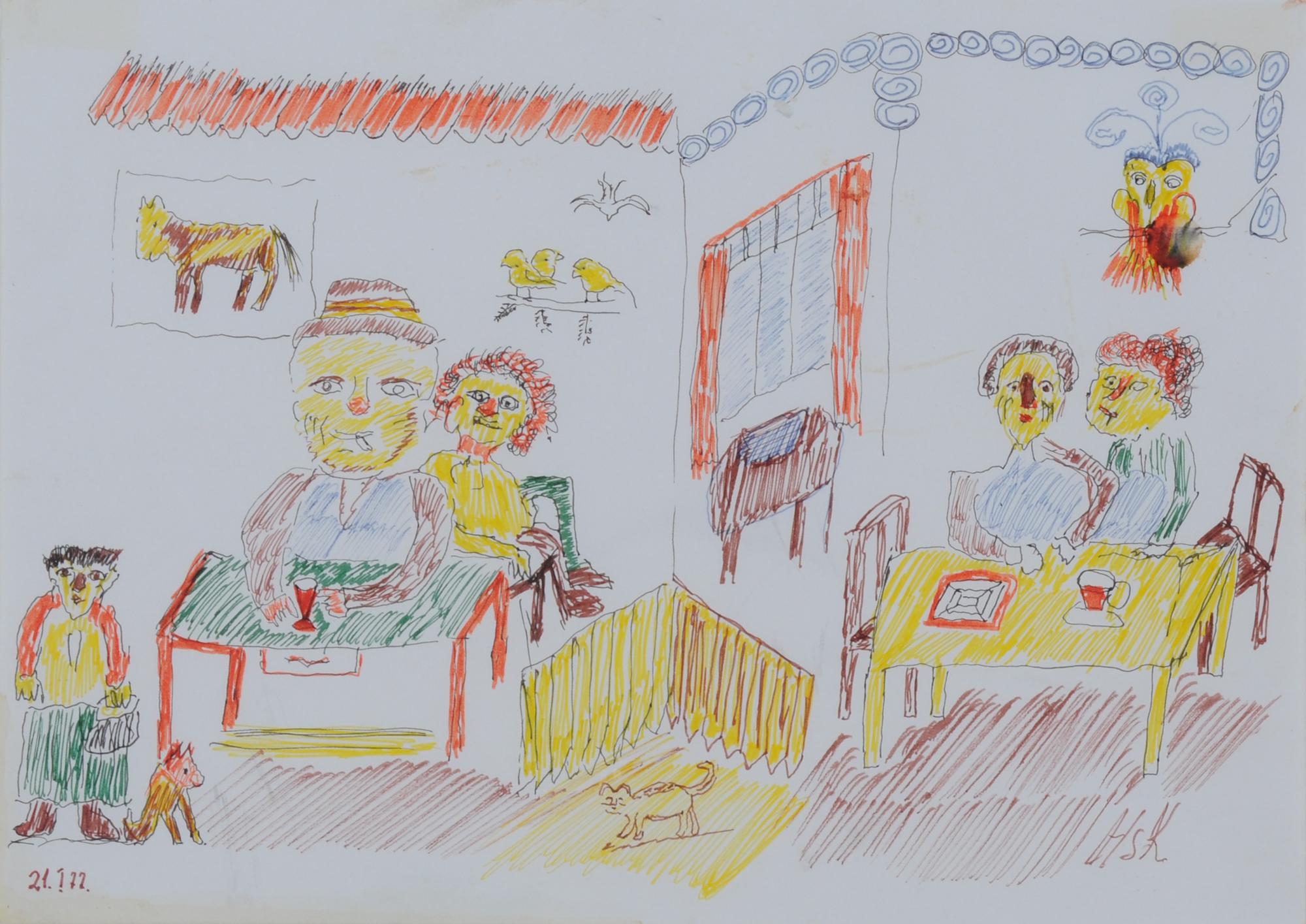 Krüsi Hans, Familientisch (Family Table)