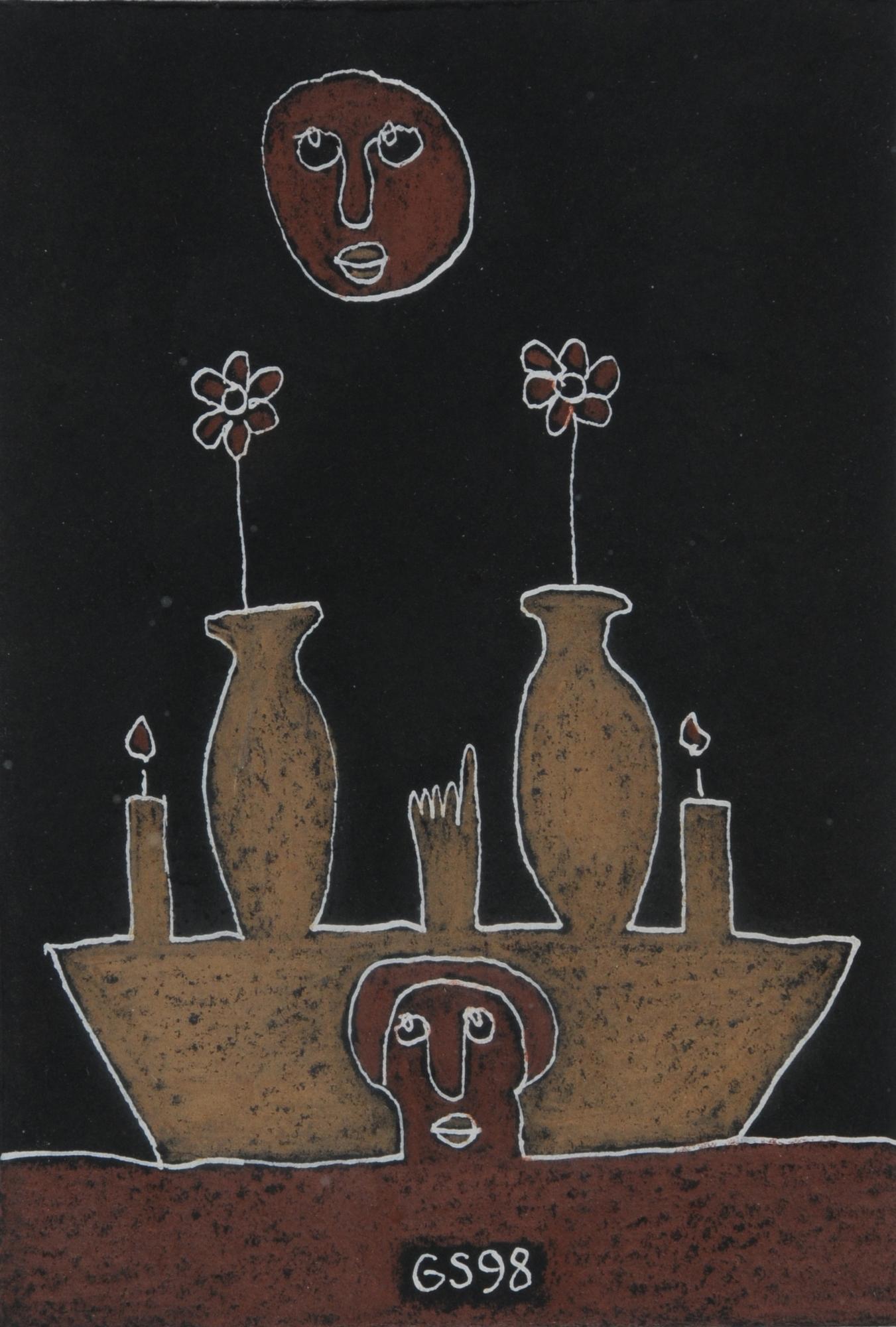 Sendrey Gérard, 3 drawings: Composition