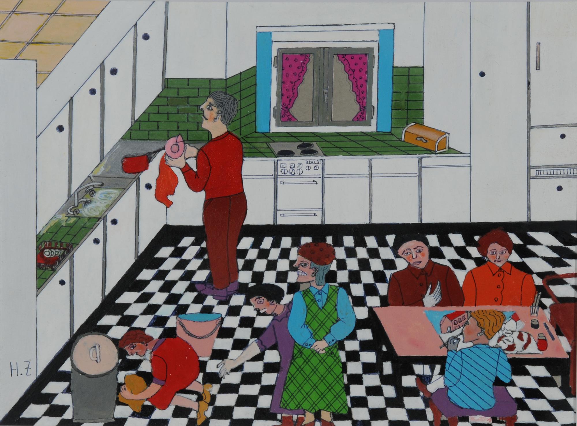 Zuber Hedi, In der Küche (In the Kitchen)