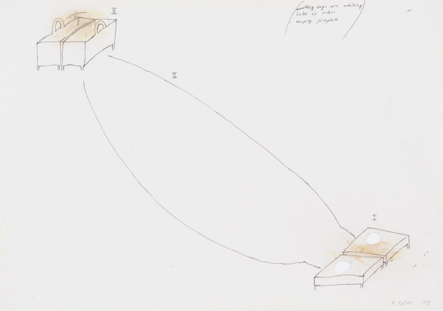 Balka Miroslaw, 3 drawings: Untitled