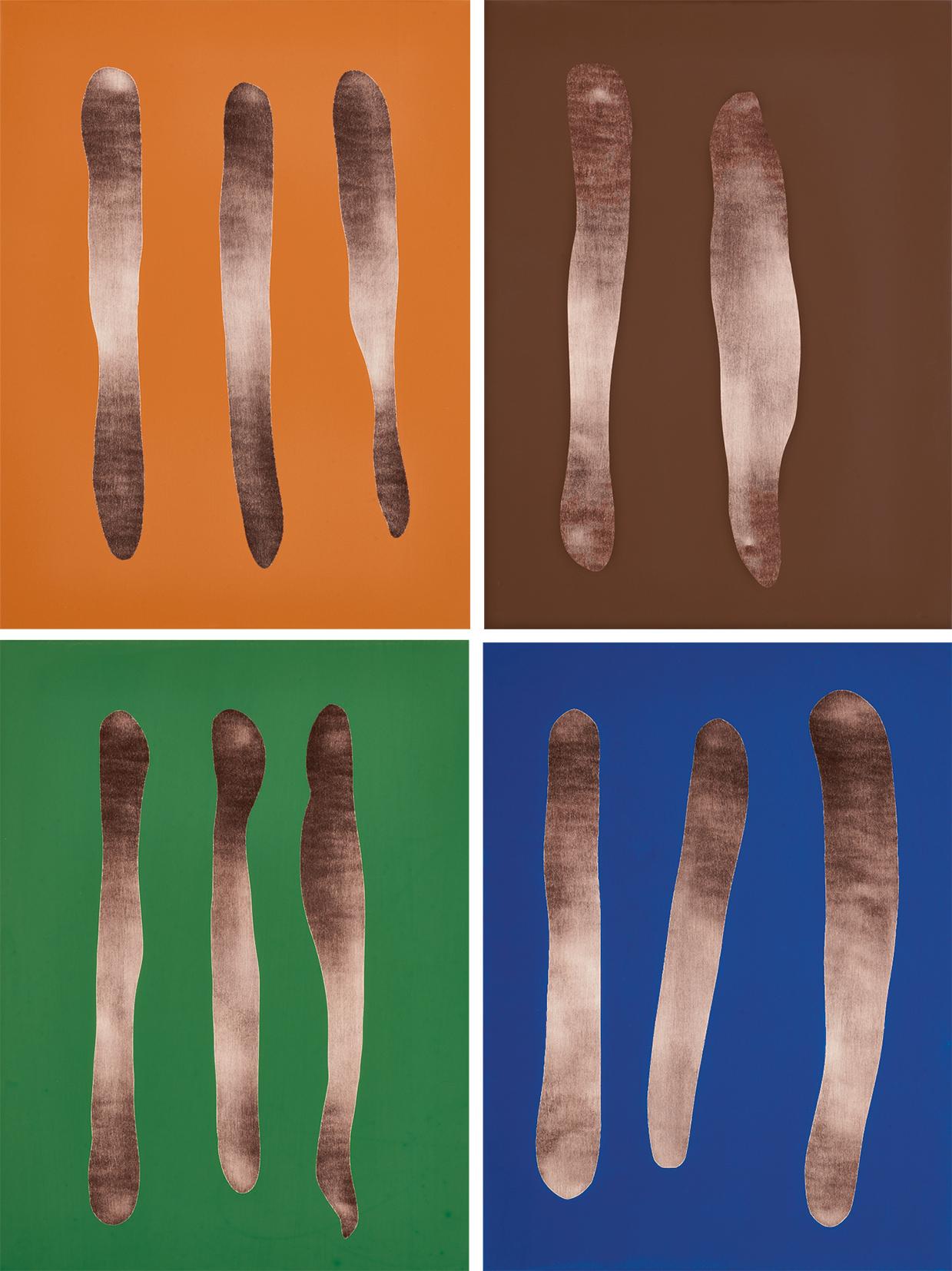 Förg Günther, 4 multiples: Mr. Blue, Mr. Brown, Mr. Orange, Mr. Green