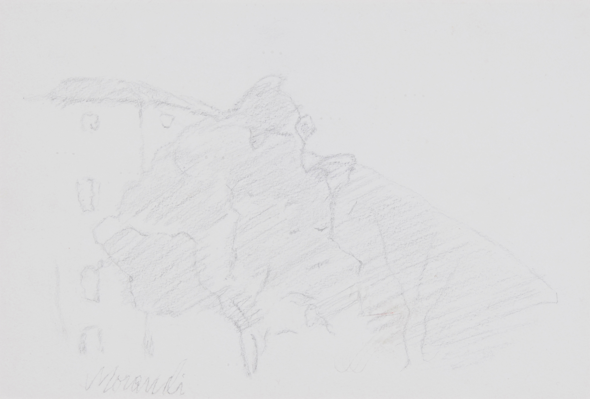 Morandi Giorgio, Recto/verso: Paesaggio