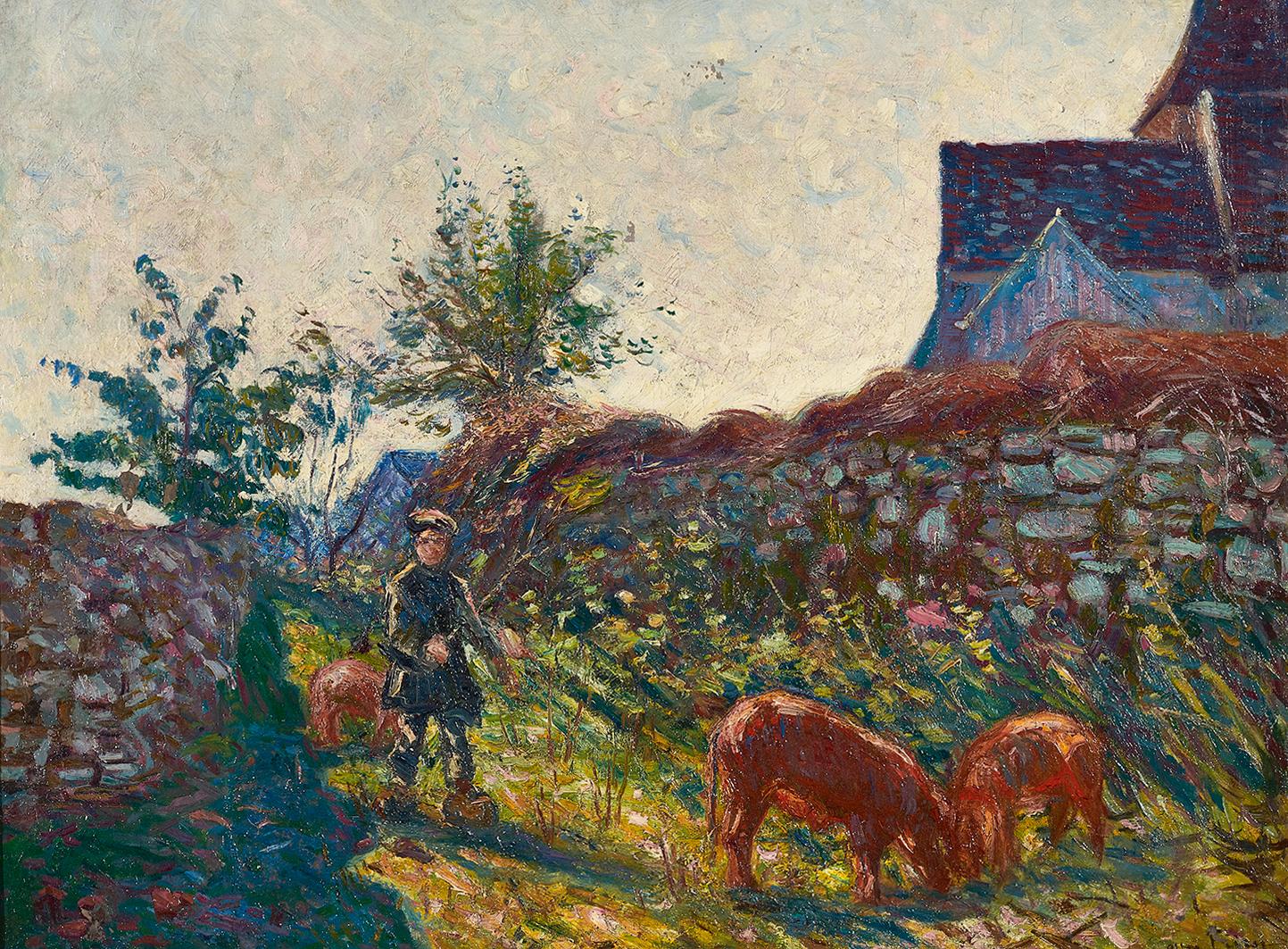 Friesz Emile Othon, La gardienne de cochons