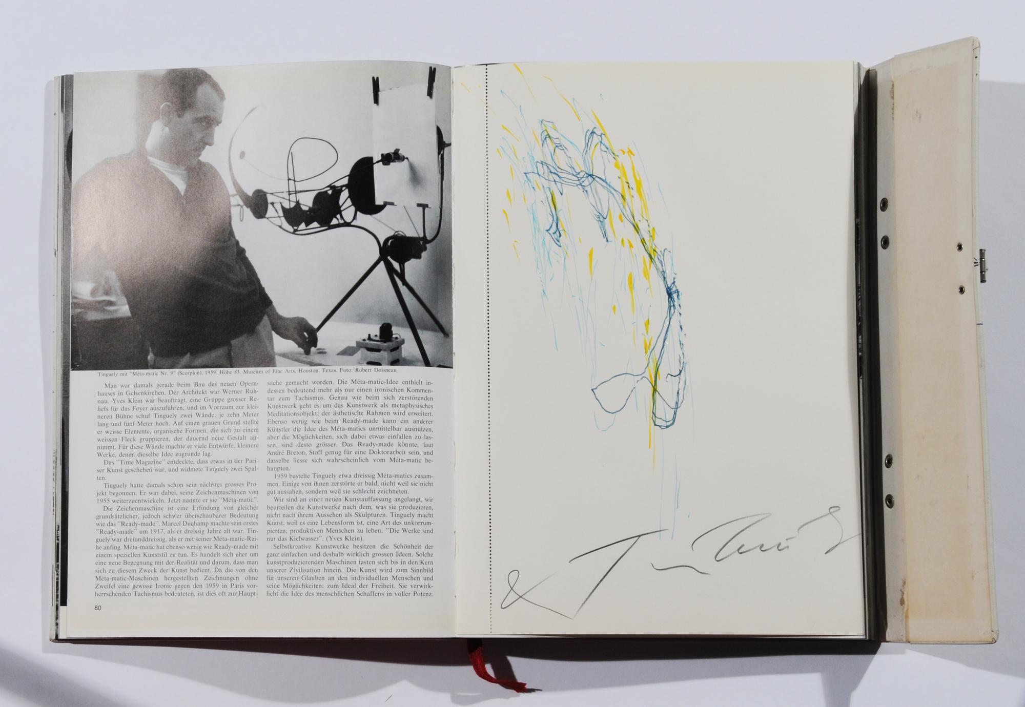 Tinguely Jean, Book. K.G. Pontus Hultén. Jean Tinguely, Méta