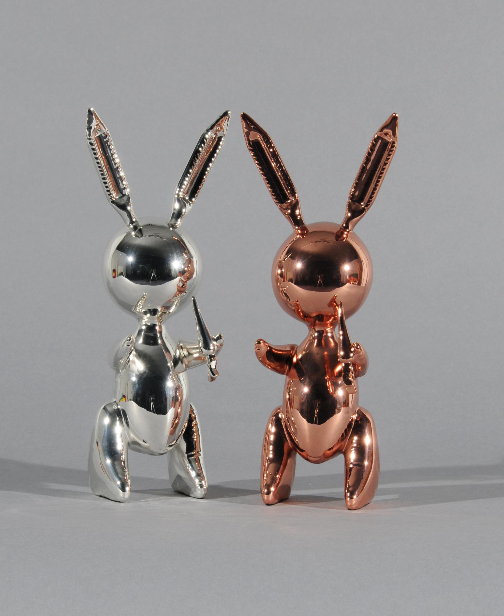 Koons Jeff, after. Set of 2 Rabbits: Rabbit (Rosé Gold); Rabbit (Silver)