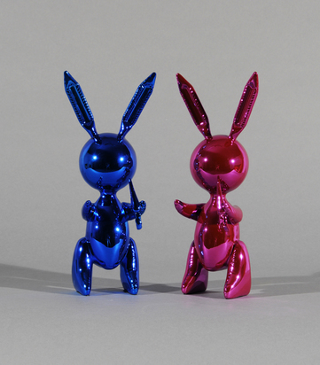 after. Set of 2 Rabbits: Rabbit (Pink); Rabbit (Blue)