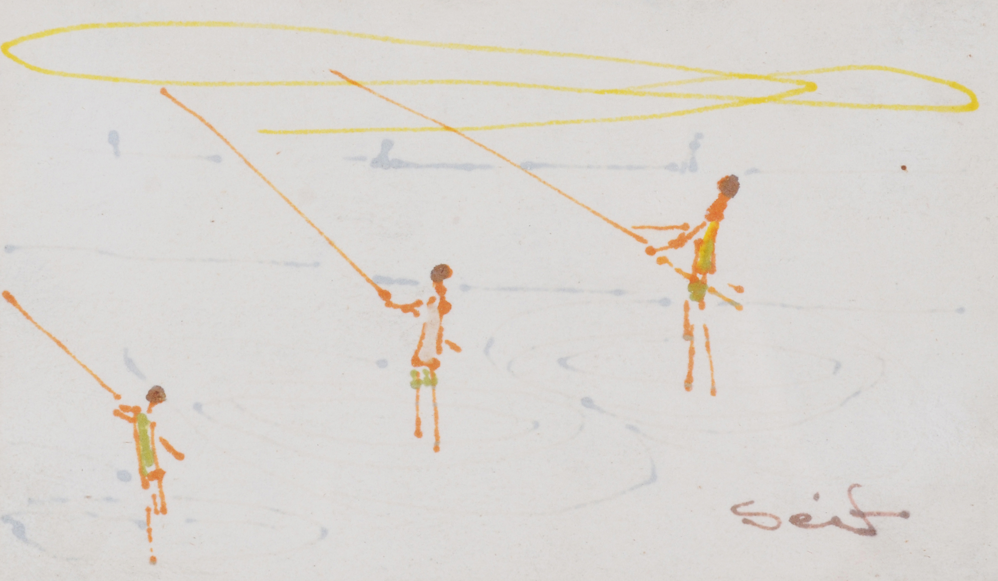 Wanly Seif, Fishermen Fishing on Nile River