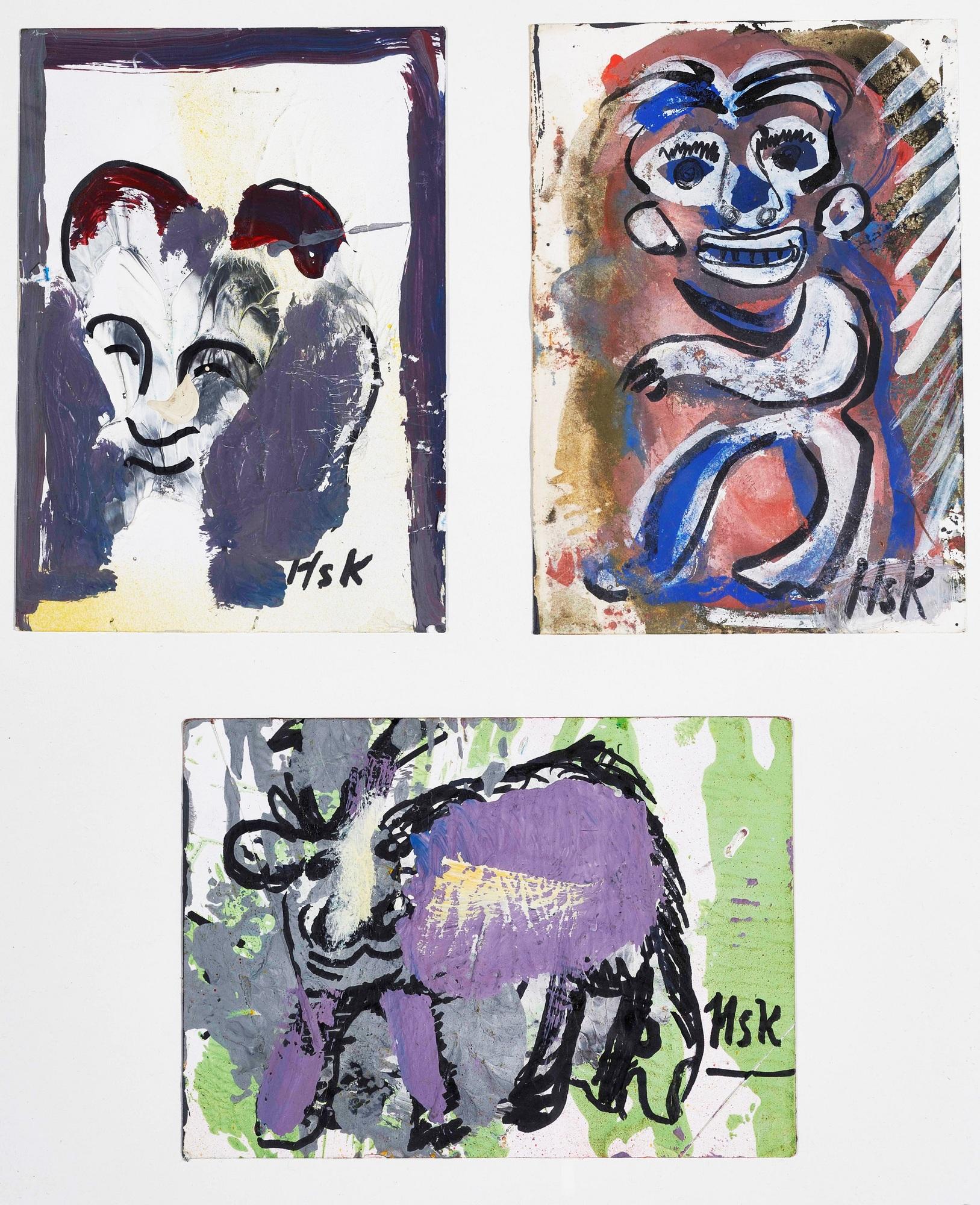 Krüsi Hans, 3 drawings: Untitled