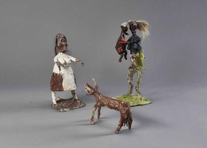 Mutter mit Kind, Grossmutter und Ziege (Mother with Child, Grandmother and Goat)