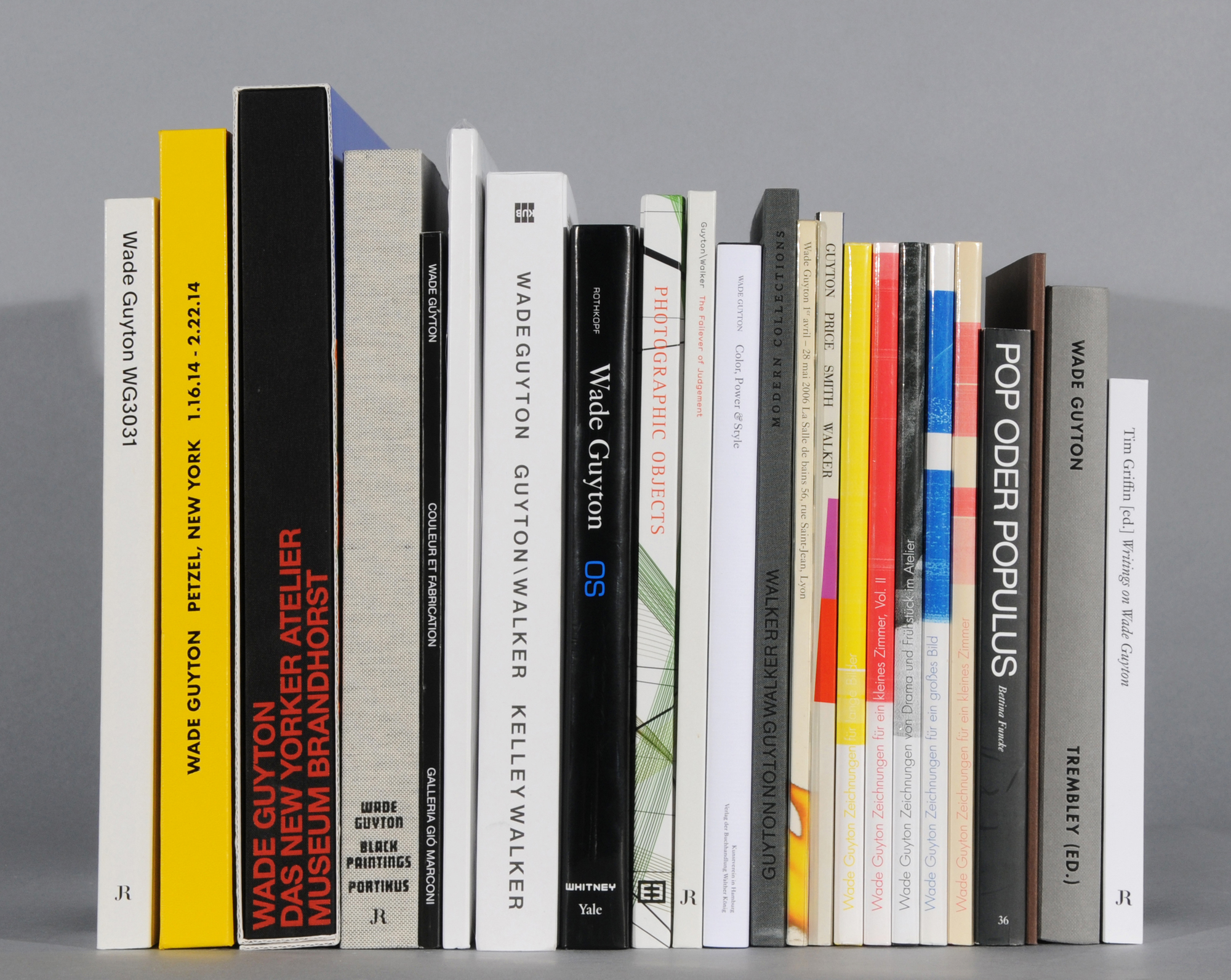 Guyton Wade, 23 Books and Exhibition Catalogues