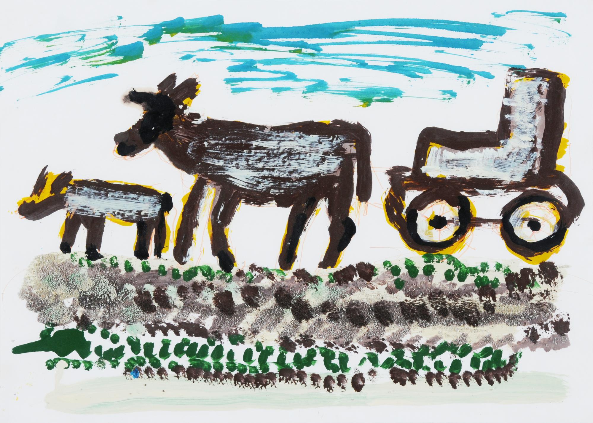 Krüsi Hans, Kühe und Traktor (Cows and Tractor)