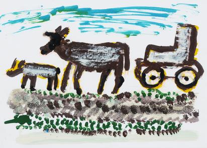 Kühe und Traktor (Cows and Tractor)