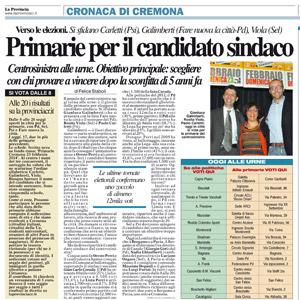 Primarie per il candidato sindaco