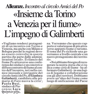 Insieme da Torino a Venezia per il fiume