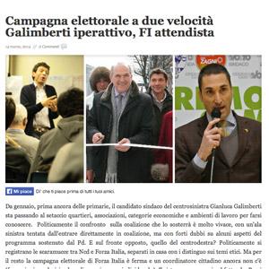 Campagna elettorale a due velocità Galimberti iperattivo, FI attendista