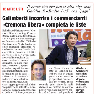 Galimberti incontra i commercianti