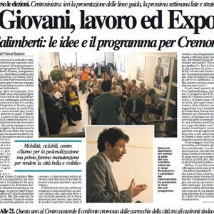 'Giovani, lavoro, Expo'