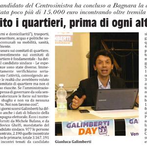 Galimberti ha concluso la campagna elettorale