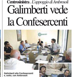 Galimberti con Confesercenti e Ambrosoli