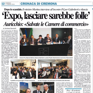 Expo, Galimberti con ministro Martina