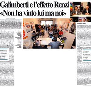 Galimberti e l'effetto Renzi: 'Non ha vinto lui ma noi'