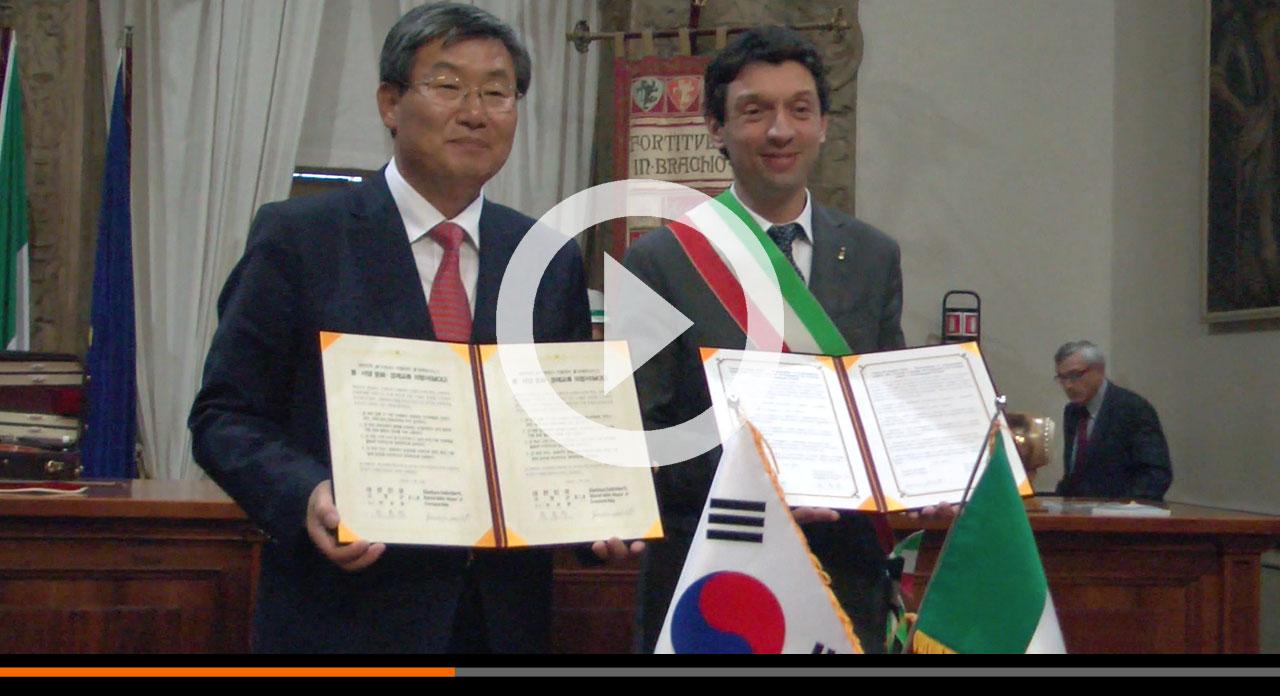 Sottoscritto accordo tra Cremona e Goryeong-gun (Corea): un fruttuoso rapporto culturale ed economico e per la pace