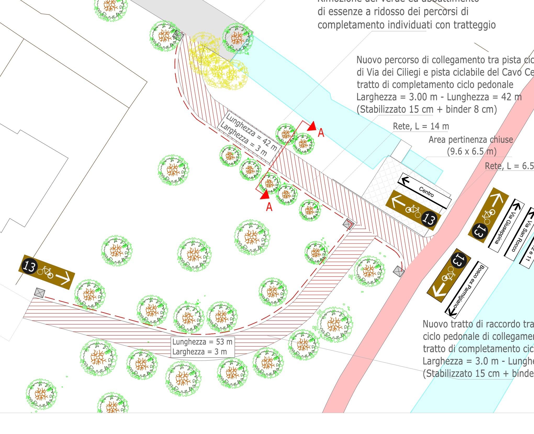 Pista ciclopedonale di via dei Ciliegi da completare: sì al progetto di fattibilità