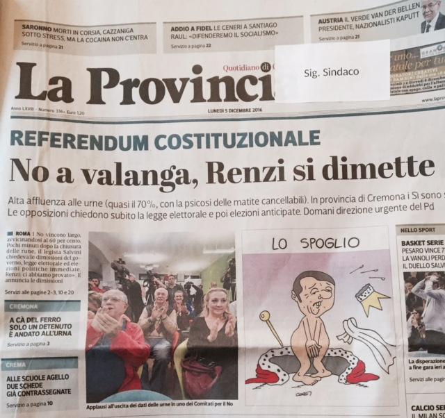 Referendum, la risposta all'instabilità e al populismo è l'impegno più forte per il bene comune