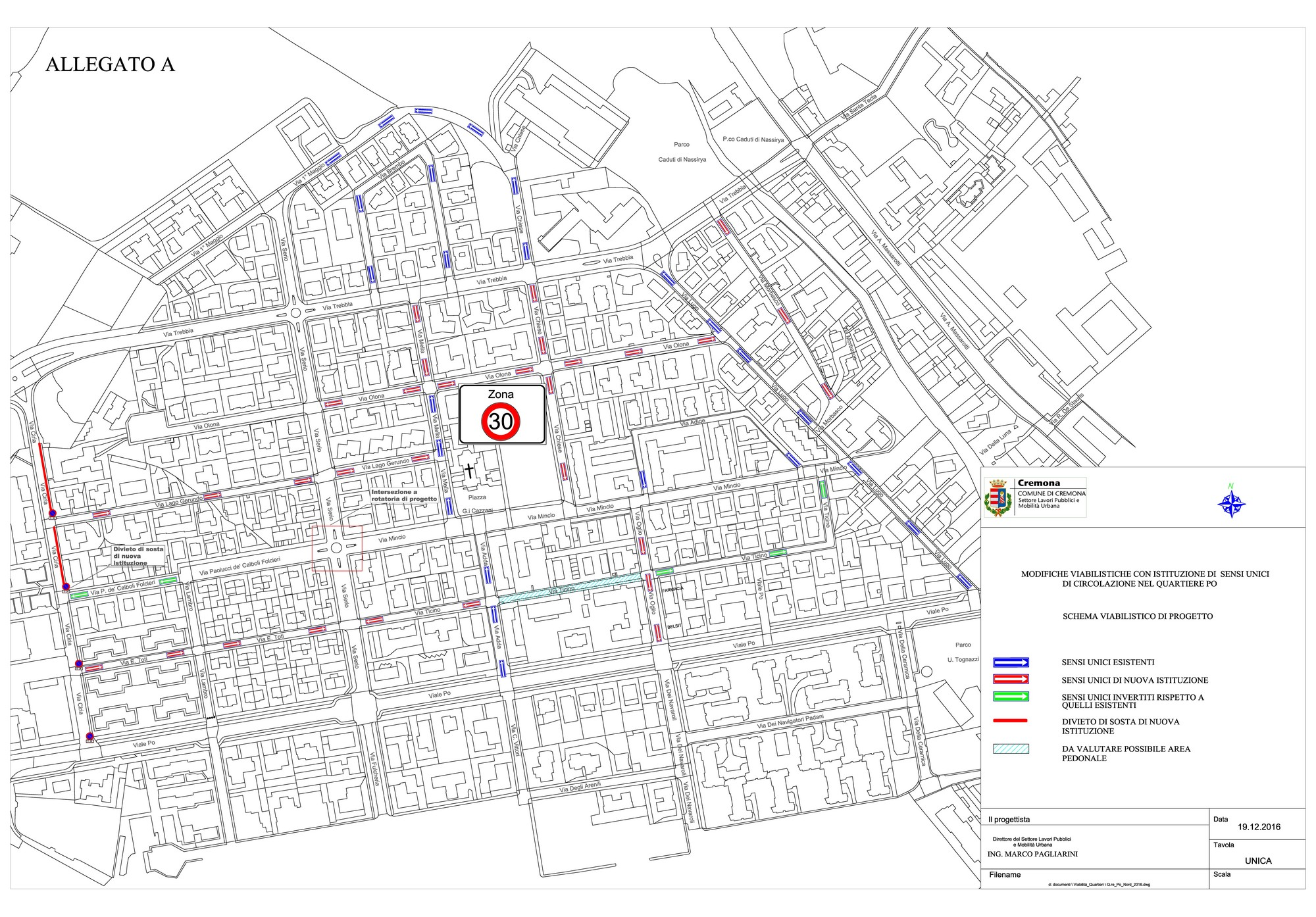 Più vivibilità e sicurezza (in particolare vicino alle scuole) al quartiere Po: in primavera sensi unici e zona 30