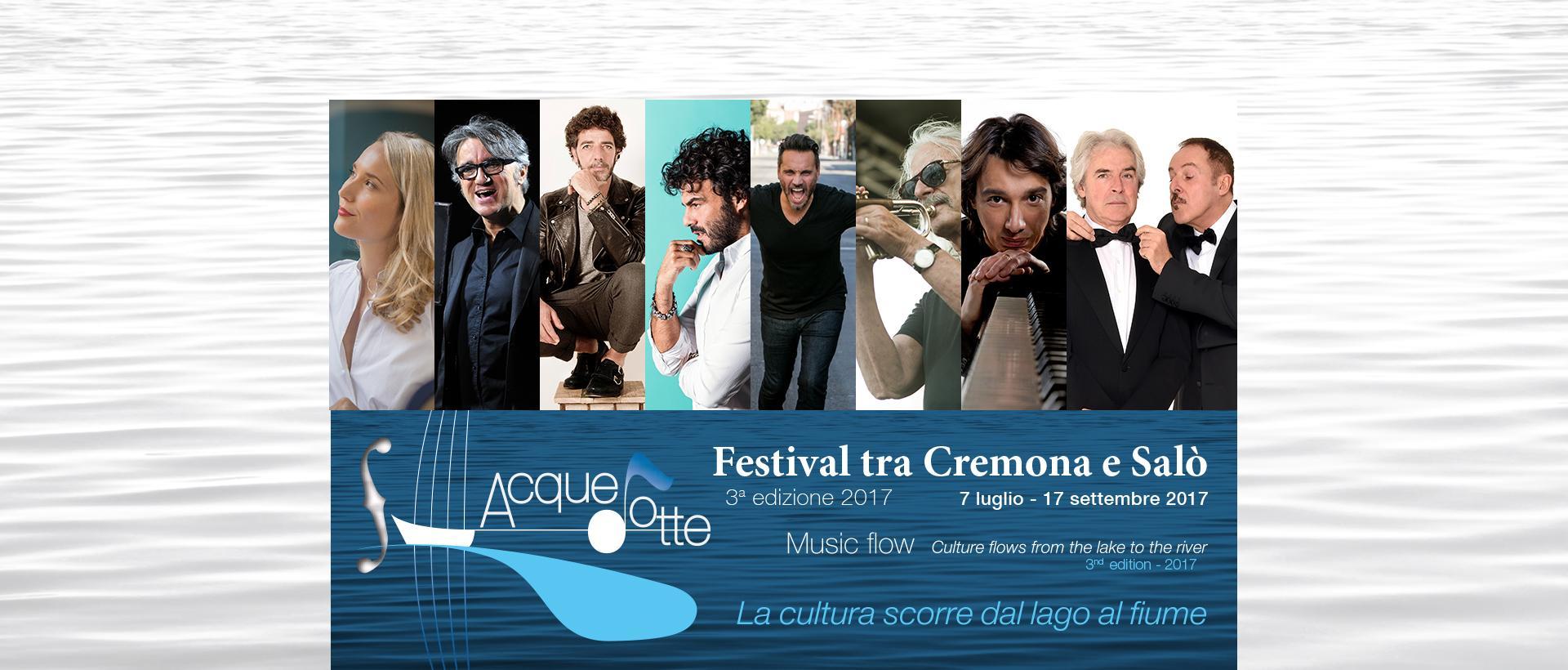 Festival Acquedotte 2017: un fiume in piena di musica ed entusiasmo. Concerti tra palazzo Trecchi e piazza del Comune