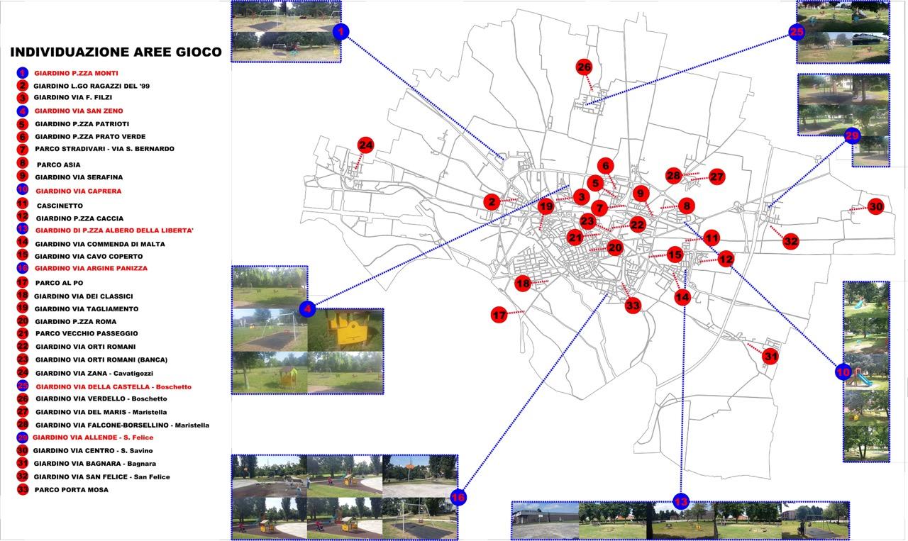 Giochi nuovi in sette aree: Cremona sempre più città per i bambini