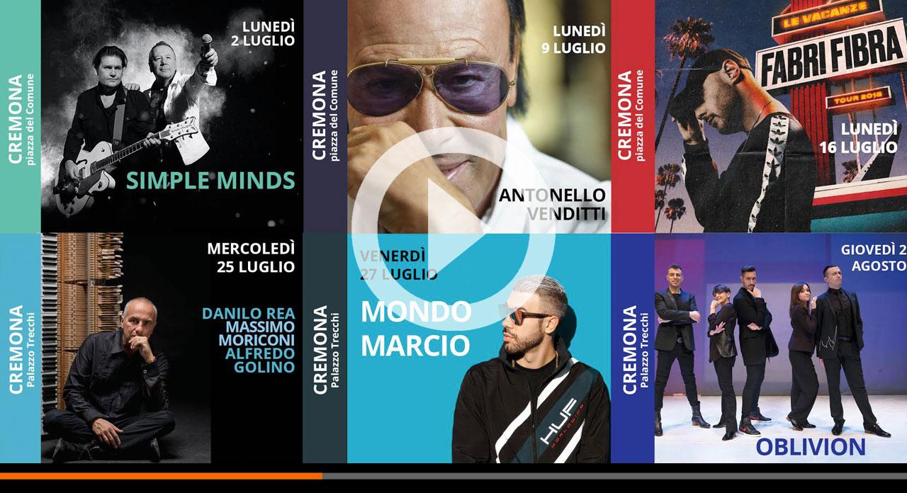 Acquedotte: il pop sotto il Torrazzo e non solo. Dai Simple Minds agli Oblivion con un omaggio a Mina!