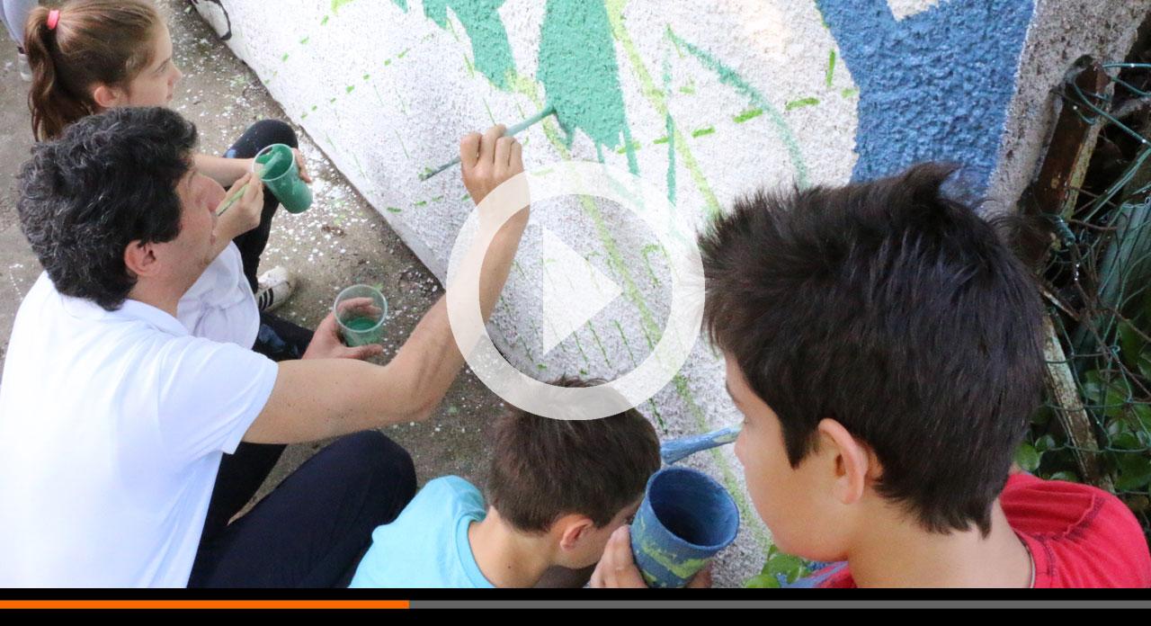 Al Boschetto un murales dei bambini sulla Costituzione. Progetto di cittadinanza attiva!