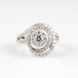 anello spirale oro e diamanti
