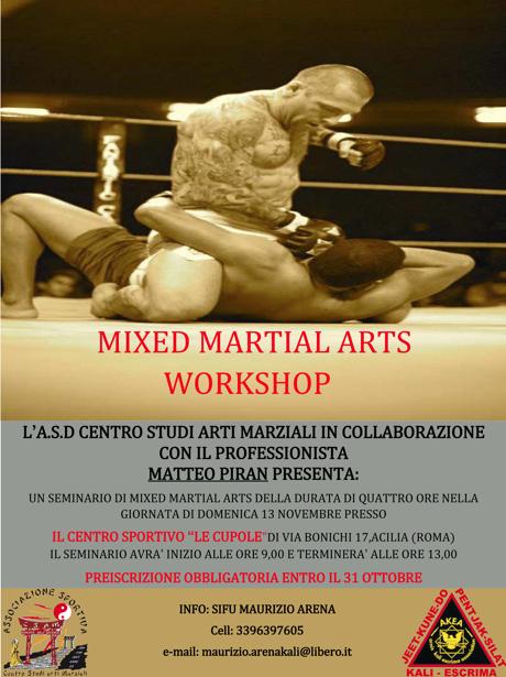 13 Novembre: MMA Workshop Con Matteo Piran 1