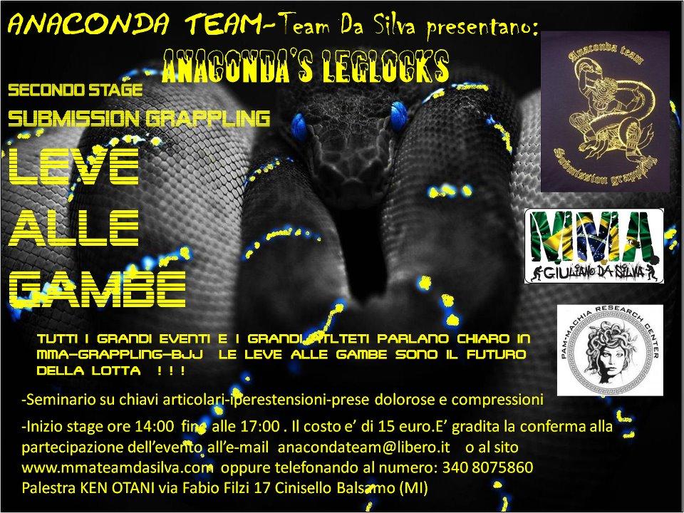 <b>Domenica 4 Dic </b> Stage Leve alle gambe parte 2 @ Anaconda Team (Milano) 1
